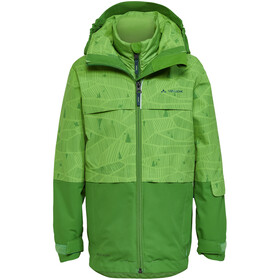 VAUDE Snow Cup AOP II 3in1 Jacket Kids parrot green